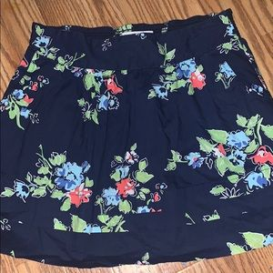Aeropostal Floral Layered Mini Skirt With Pockets